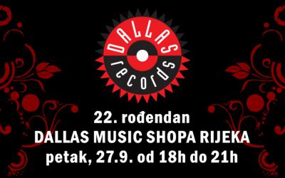22 godine riječkog Dallas Music Shopa