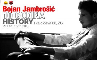 10 godina karijere Bojana Jambrošića u klubu History