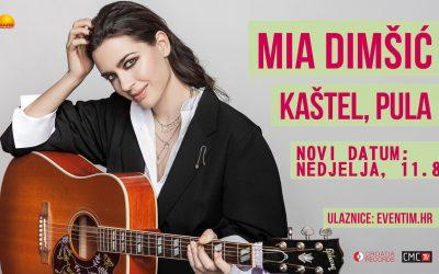 Mia Dimšić 11. KOLOVOZA nastupa pod zvijezdama, na divnom pulskom Kaštelu