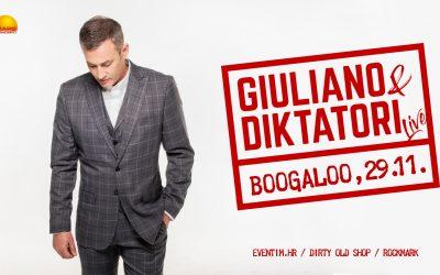 Giuliano i Diktatori stižu u zagrebački Boogaloo 29.11.2019.