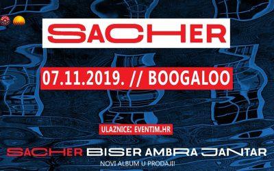 "Sacher predstavlja album ""Biser, ambra, jantar"" 7.11. u klubu Boogaloo"